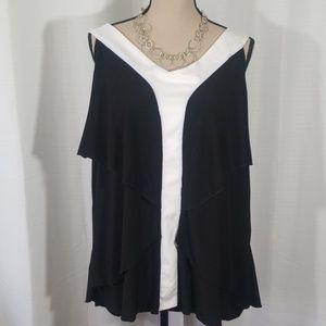 Avenue color block sleeveless top. Size 22/24